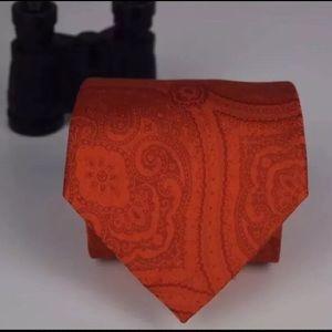 Countess Mara Men's Elegant Orange Designer Tie